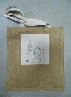 Tekstiilist kott trükiga