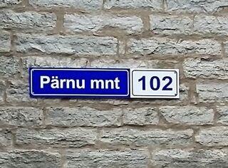 Tänavasilt - Pärnu mnt 102