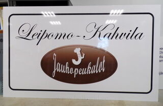 Leipomo-Kahvila reklaamsilt