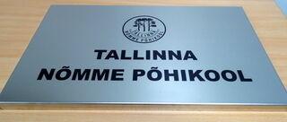 Ruostumattomasta teräksestä julkisivukyltti Tallinna Nõmme Põhikool