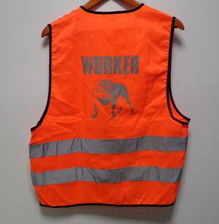 Worker oranz helkurvest