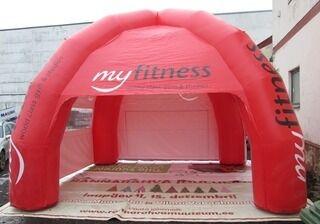 Täispuhutav telk logoga My fitness