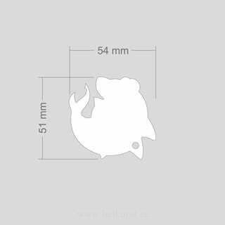 Helkur delfiin 54x51 mm