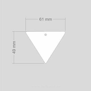 Helkur tagurpidi kolmnurk 60x49 mm