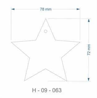 Helkur täht 72x78,5mm
