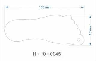 Helkur jalajälg 40x105mm