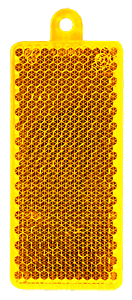 Helkur ristkülik 32x78mm kollane